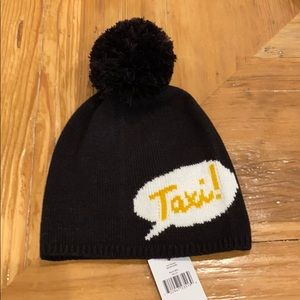 "NEW Kate Spade ""Taxi"" Beanie with Pom Pom"
